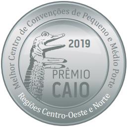 O Centro de Convenções recebeu em 2019 o Jacaré de Prata - Prêmio Caio